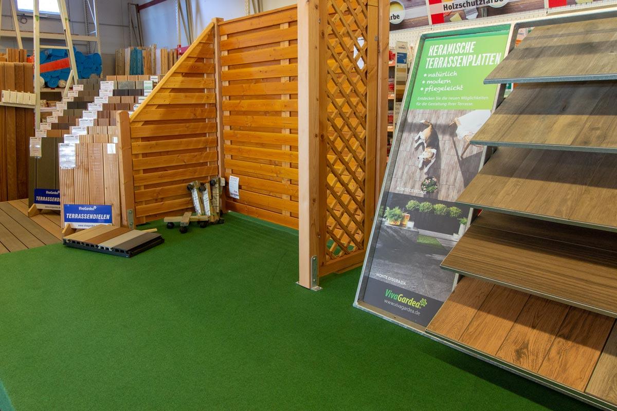 Entdecken Sie keramische Terrassenplatten in unserer Ausstellung