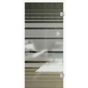 HQ TürenWelt Glastür Kristall Blockstreifen