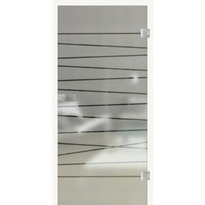 HQ TürenWelt Glastür Kristall Graphit 1972x834x8mm