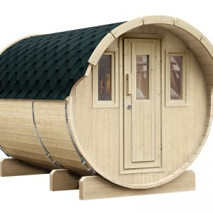 WOLFF FINNHAUS Saunafass 330 Bausatz Dachschindeln