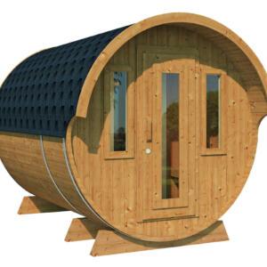 WOLFF FINNHAUS Saunafass 330 de luxe Thermoholz Bausatz