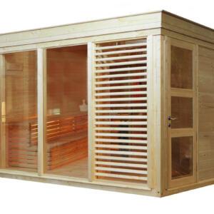 WOLFF FINNHAUS Sauna Paradiso 3x2 (2-Raum) 328,6 x