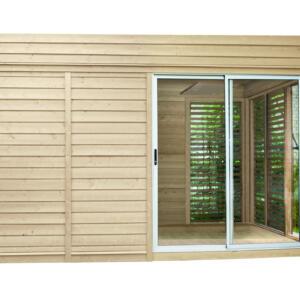 WOLFF FINNHAUS Sauna Paradiso 4x3 (2-Raum) 429,2 x 328