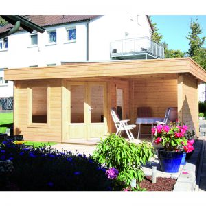 WOLFF FINNHAUS Gartenhaus Maja 40-A mit Terrasse 250