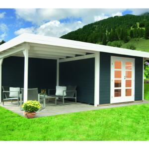 WOLFF FINNHAUS Gartenhaus Relax Lounge B mit SD+RW 300