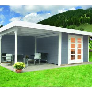 WOLFF FINNHAUS Gartenhaus Relax Lounge C mit SD+RW 300