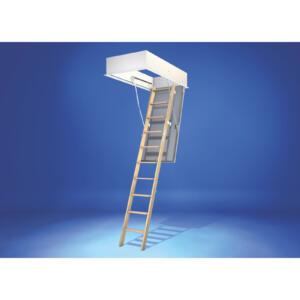 Wellhöfer Bodentreppe GutHolz mit WärmeSchutz WS4D Deckenöffnung 140x70, lichte Raumhöhe