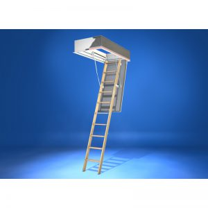 Wellhöfer Bodentreppe GutHolz mit WärmeSchutz WSPH Deckenöffnung 140x70, lichte Raumhöhe