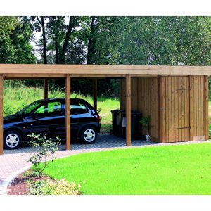 Scheerer Carport Kompakt 3,69x7,00m KD+ braun