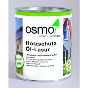 OSMO Holzschutz Öl-Lasur 900 Weiß, 0,75L